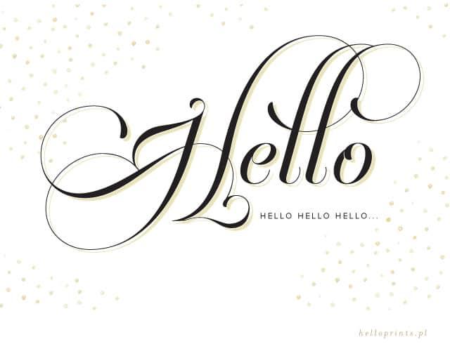 Witamy I Zapraszamy Hello Welcome Hello Prints Papeteria