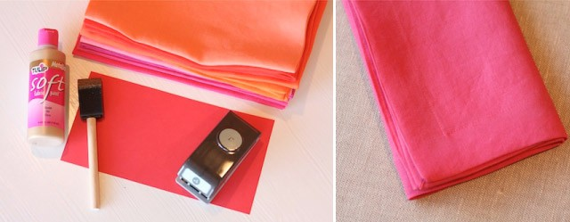 DIY - czerwone serwetki z konfetti