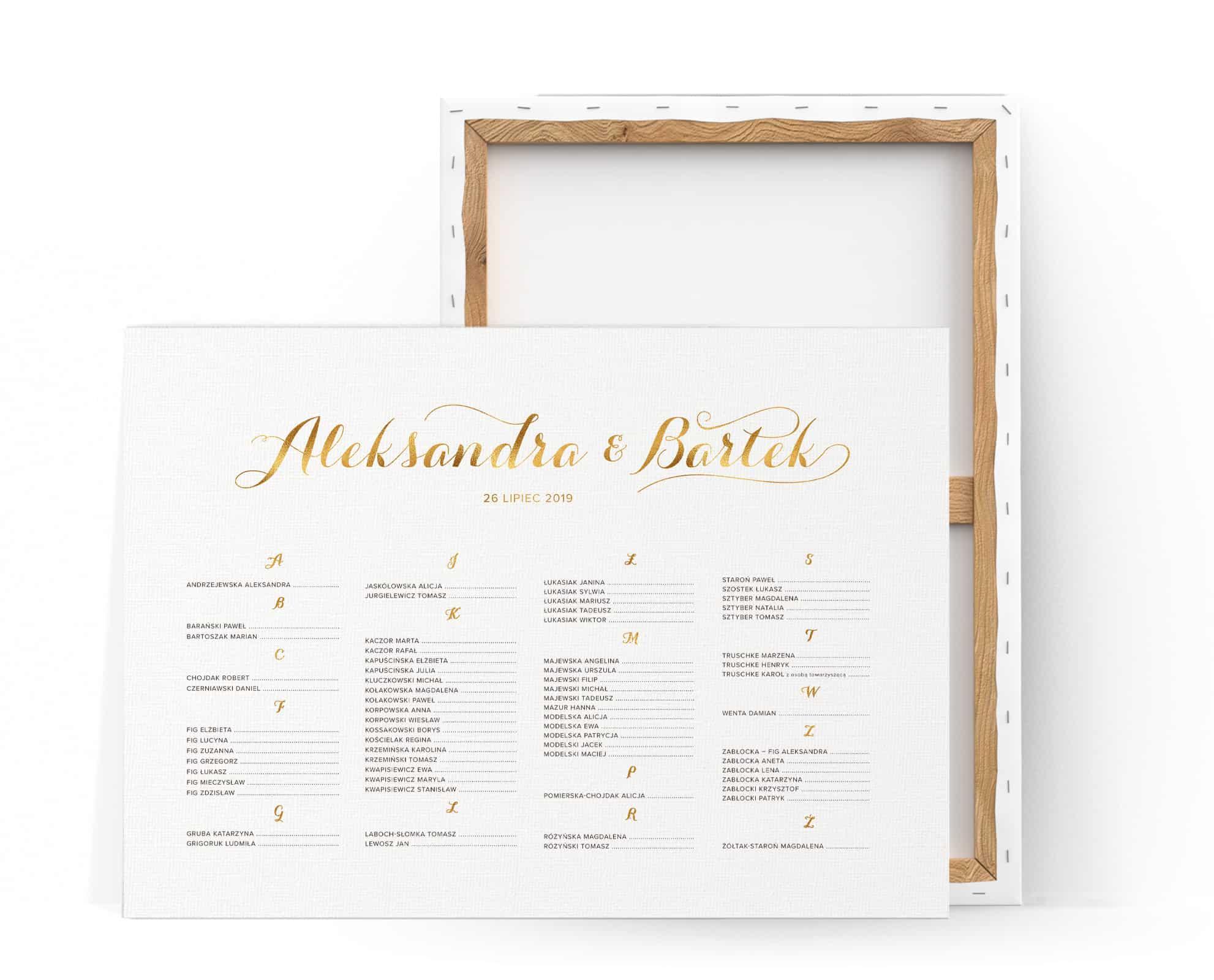 Plan stołow minimialistyczny na eleganckie przyjęcie