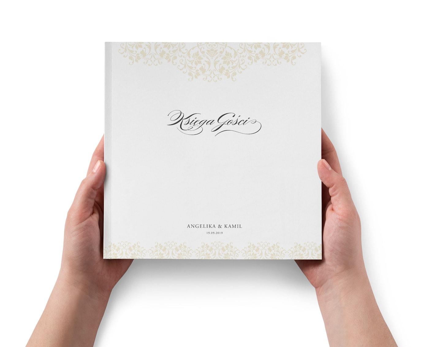 Księga gości weselnych w klasycznej eleganckiej formie albumu