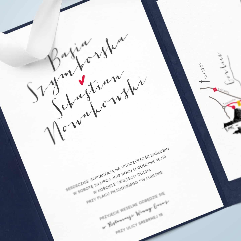 Zaproszenie nowoczesne z czcionką typograficzną