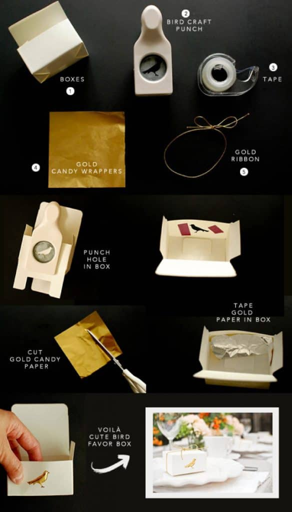 Łatwe do samodzielnego wykonania pudełeczka dla gości