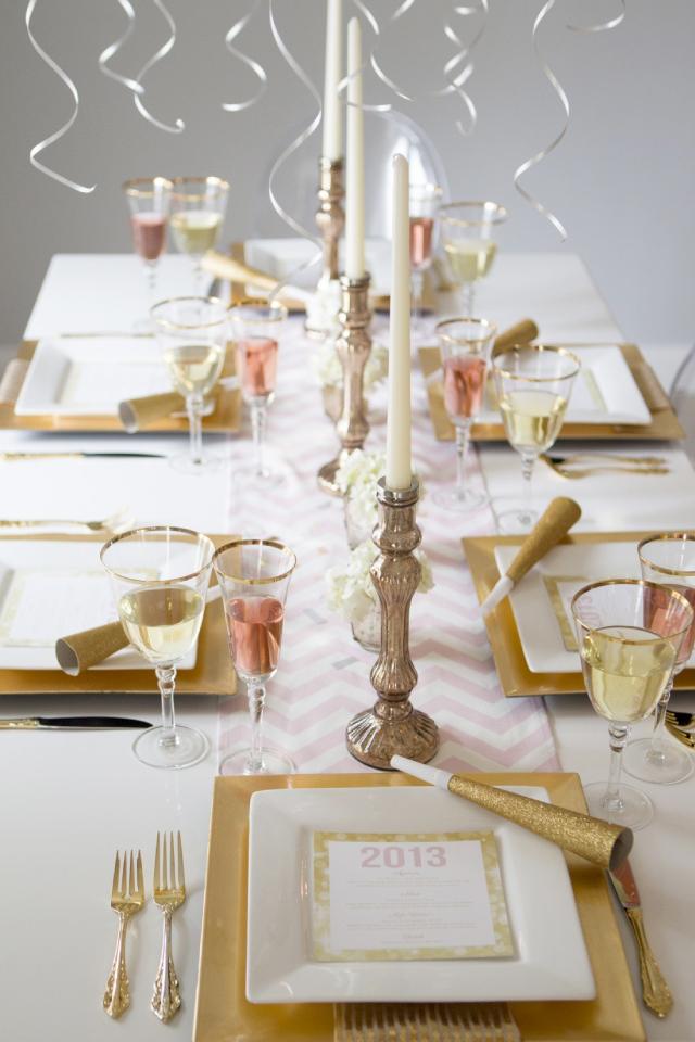 Sylwestrowy wystrój stołów