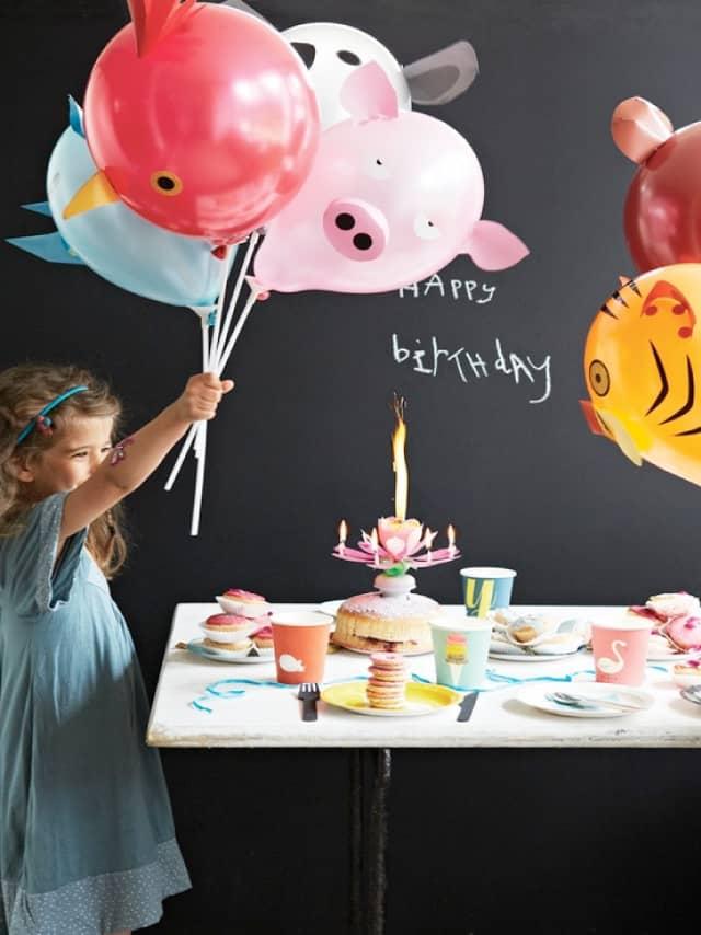 Kolorowe balony w kształcie zwierząt