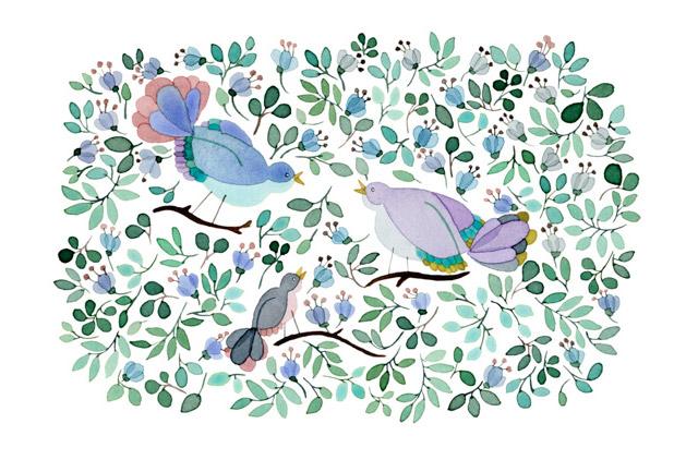Akwarelowe ilustracje roślinne
