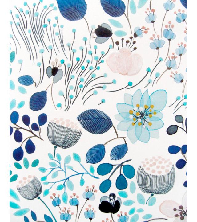 Ilustracje pastelowe kwiatów i roślin