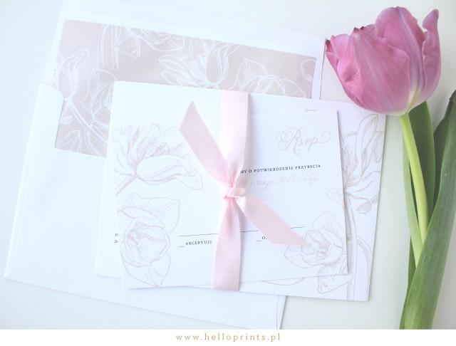 Papeteria ślubna z motywem Tulipanów