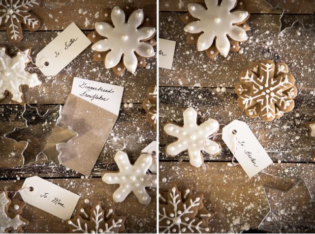 Domowej roboty piernikowe śnieżynki