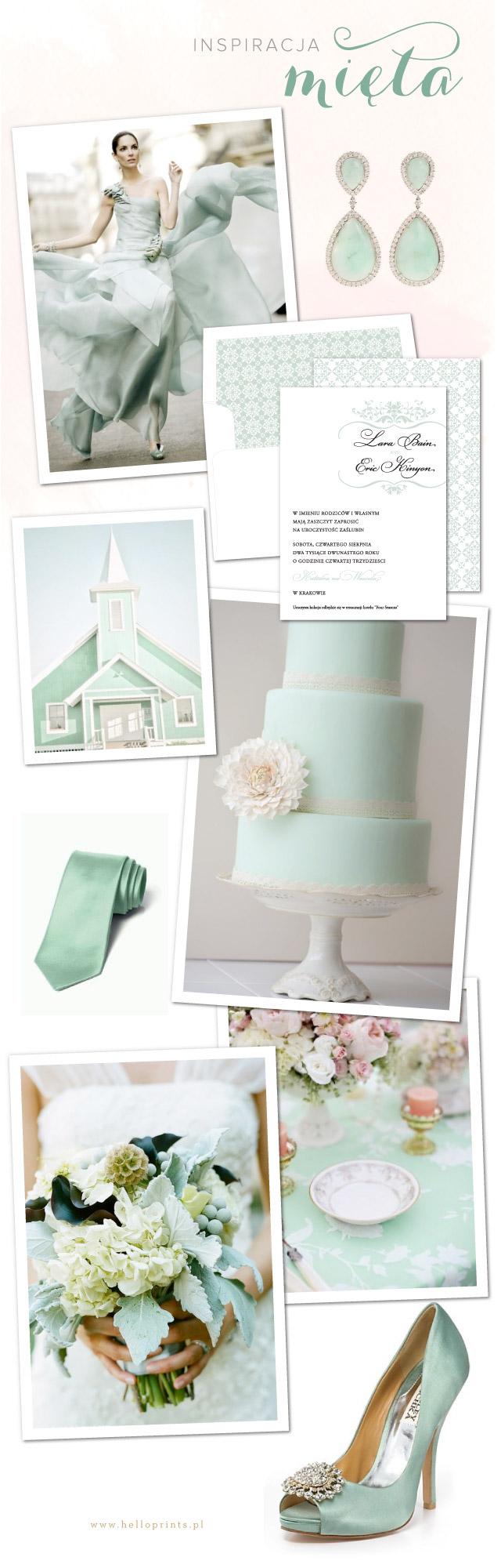 Inspracje ślubne w kolorze mięty