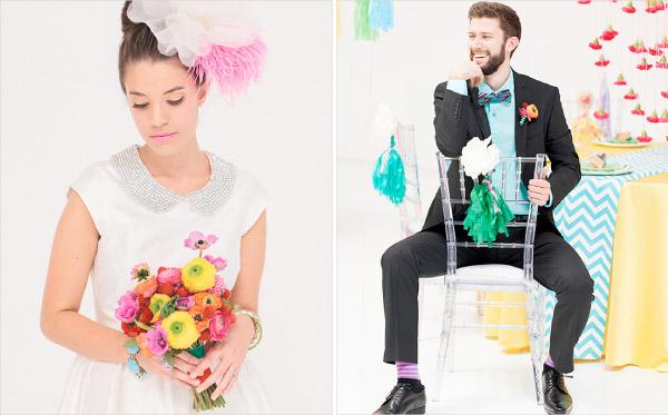 Kolorowa stylizacja na ślub