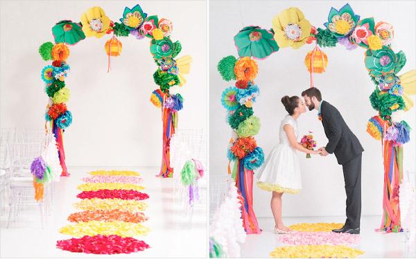 intensywne kolory w sali weselnej