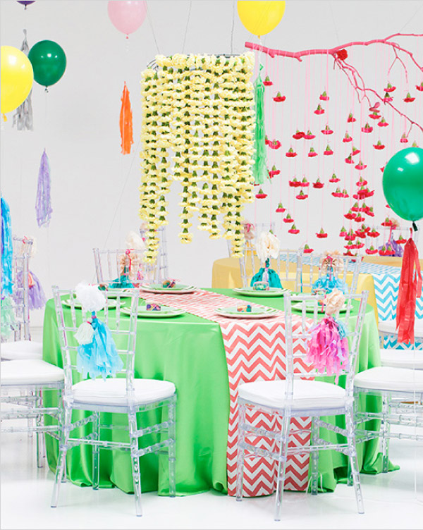 Neonowe kolory w wystroju stołów weselnych