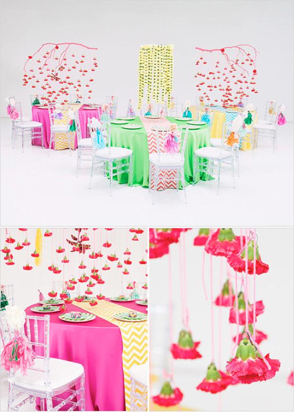 Inspiracje z kolorową stylizacją ślubną
