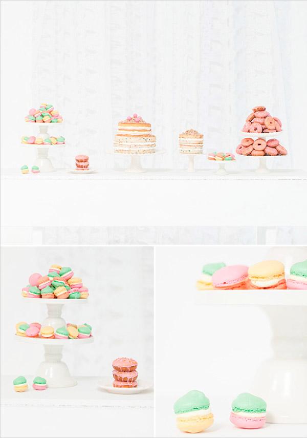 Słodki stół w neonowych kolorach