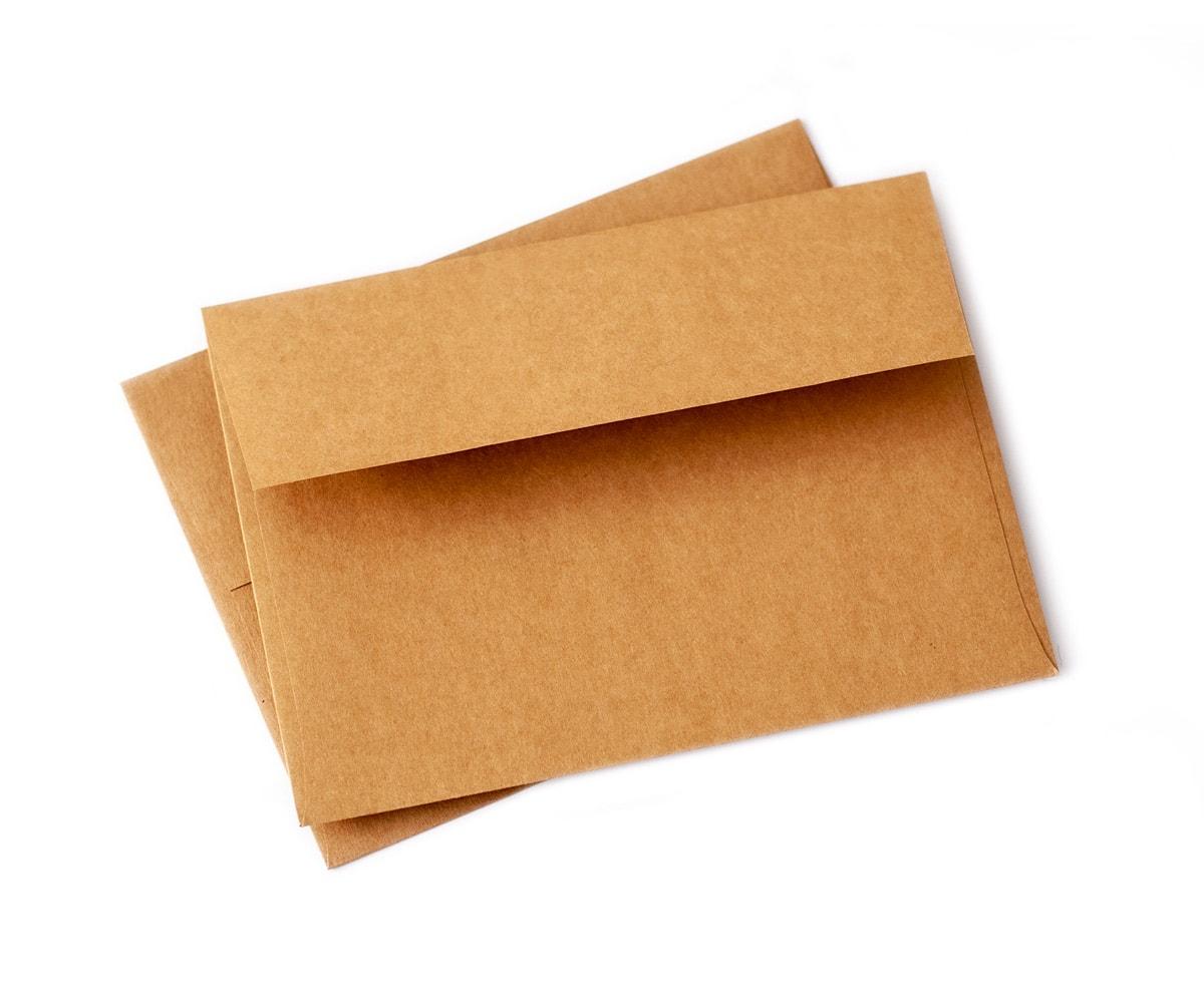 Koperty A7 ekologiczne na papierze kraft