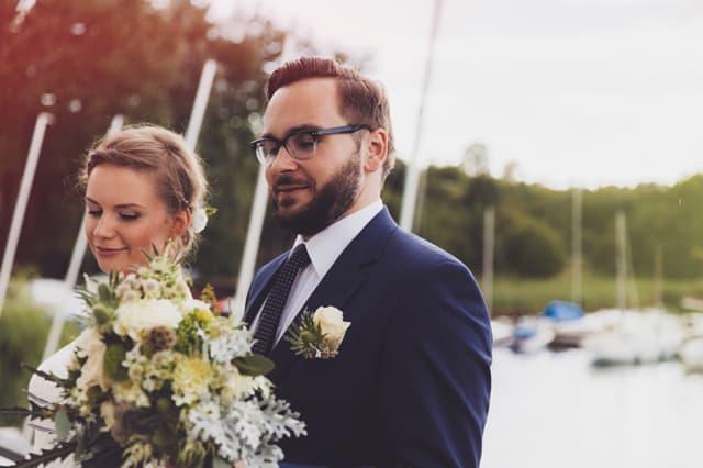 wesele w sierpniu nad jeziorem