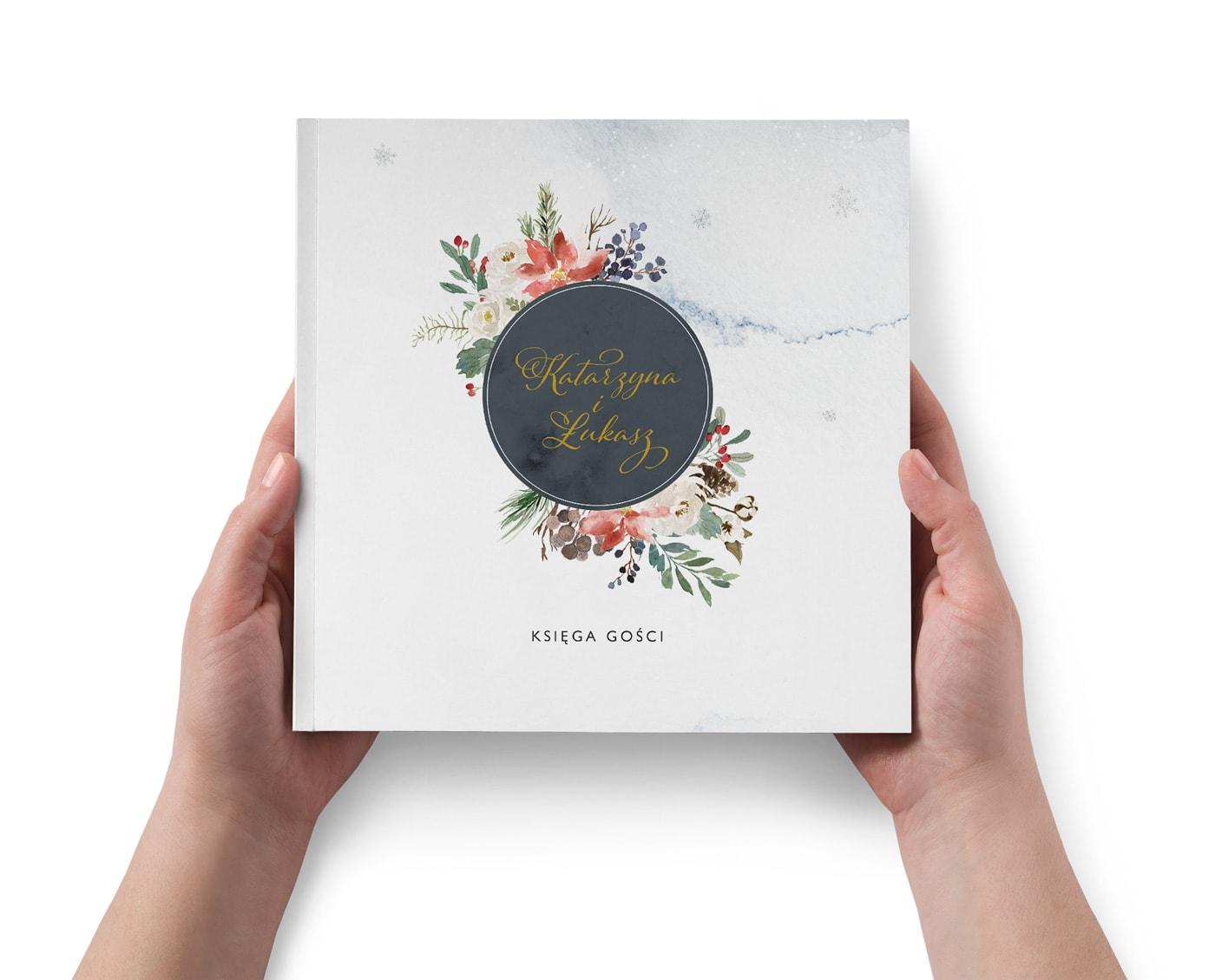 Księga gości, tradycyjny album na ślub zimą