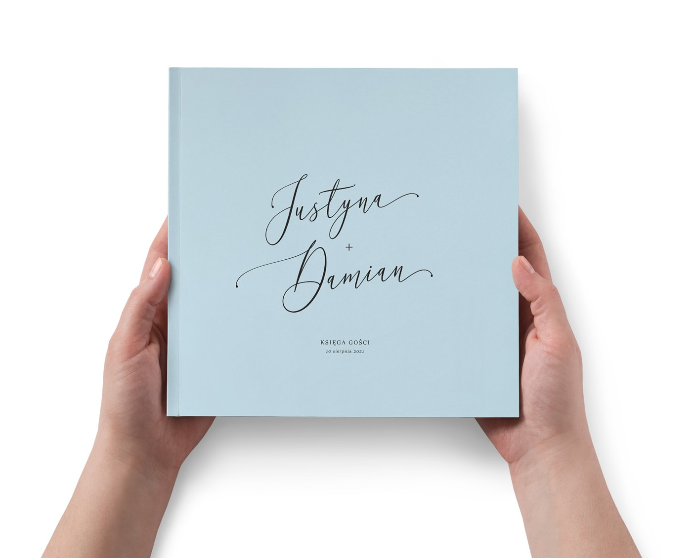 Elegancka księga gości weselnych, minimalistyczna