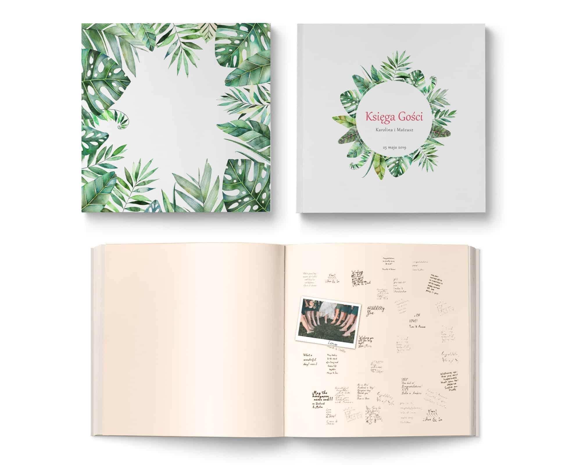 Księga Gości na wesele w stylu tropikalnym