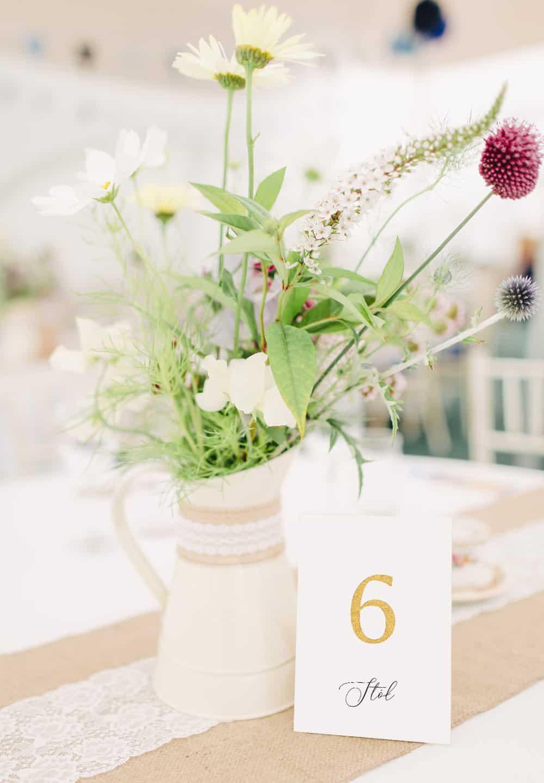 Numery stolików eleganckie do postawienia