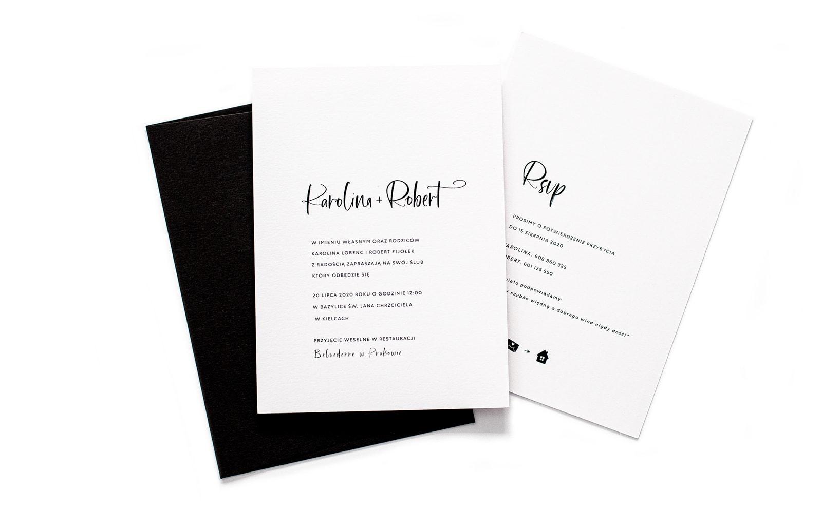 Minimalistyczne i eleganckie zaproszenia ślubne Luxury