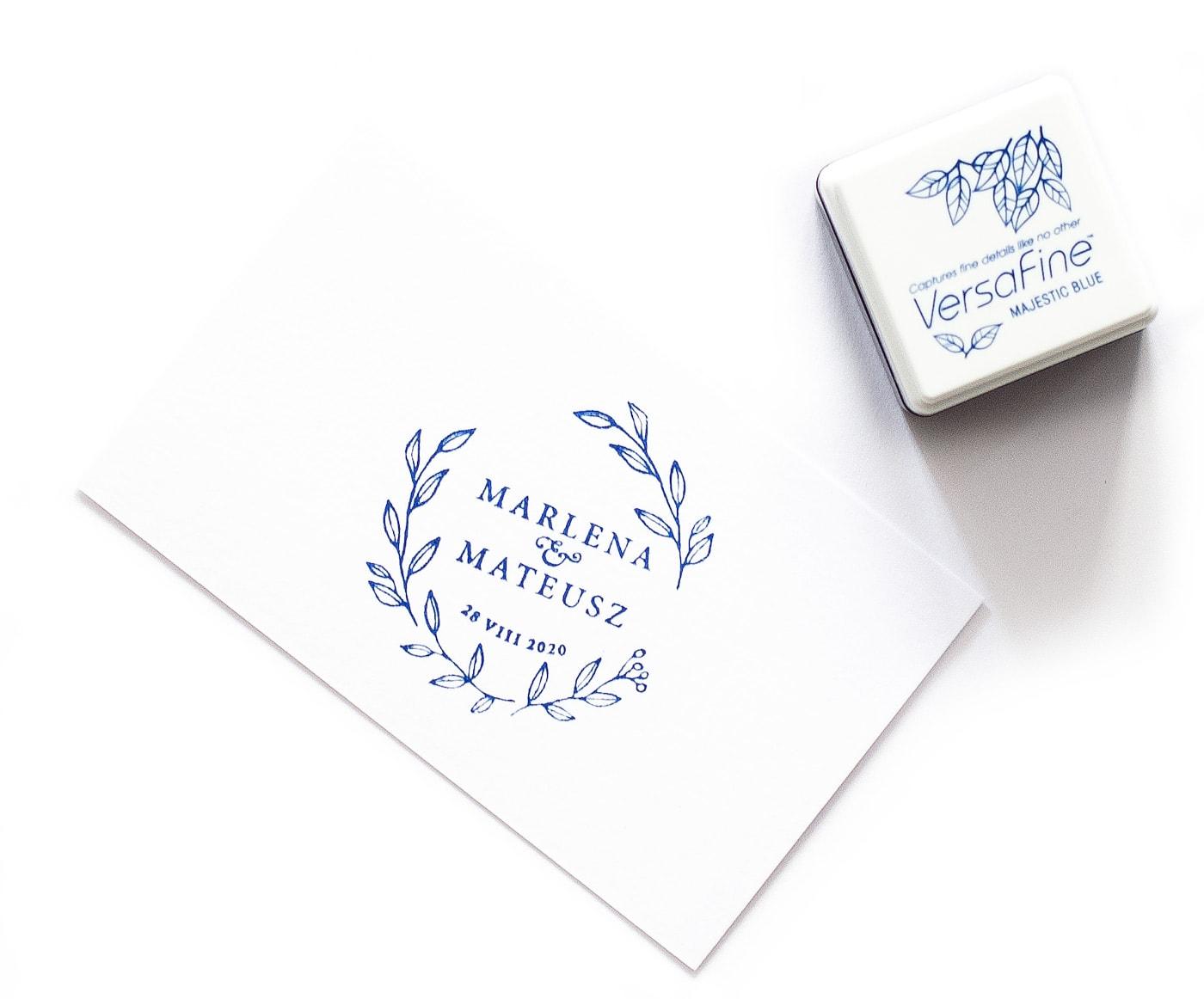 Poduszka z niebieskim tuszem do pieczątek, VersaFine, pigmentowy tusz