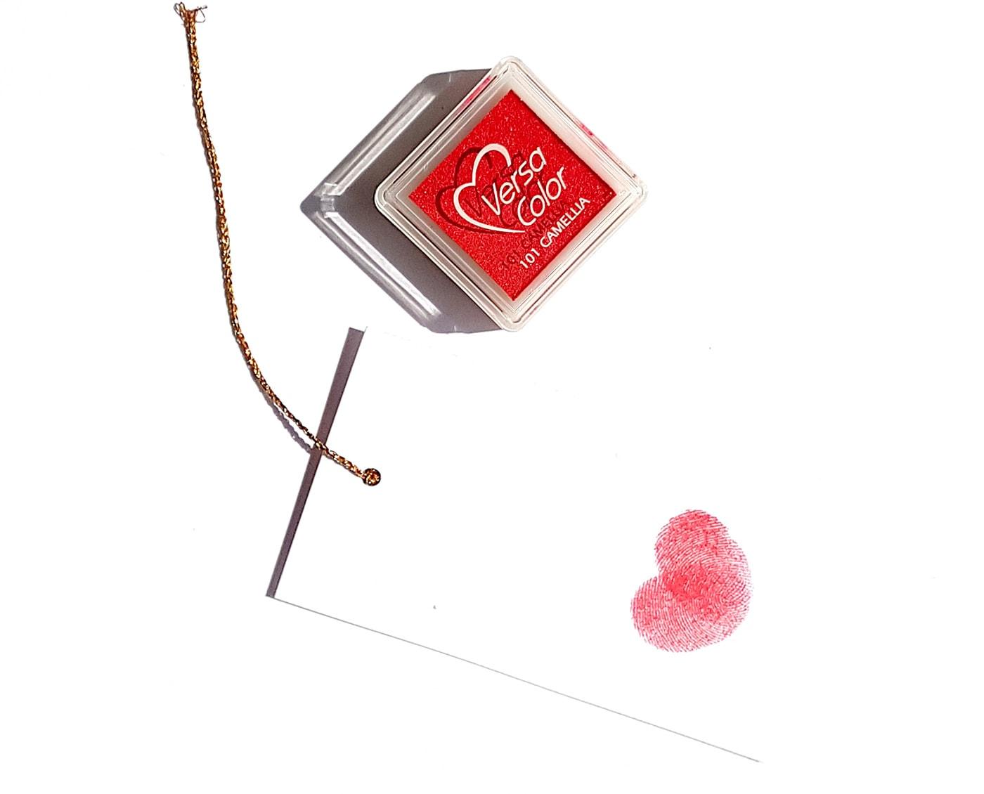 Poduszka do stempli Versacolor z tuszem pigmentowym w kolorze płomiennej czerwieni