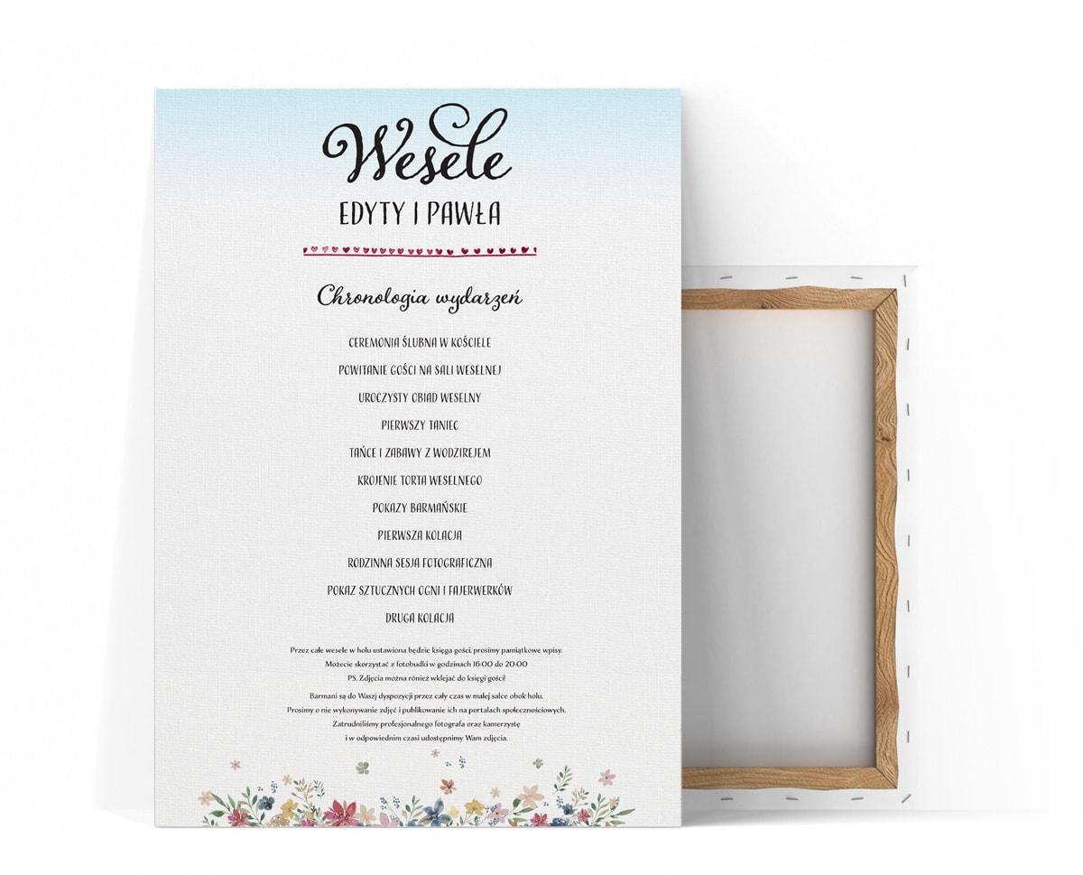 Plan ceremonii i harmonogram na wesele w stylu rustykalnym