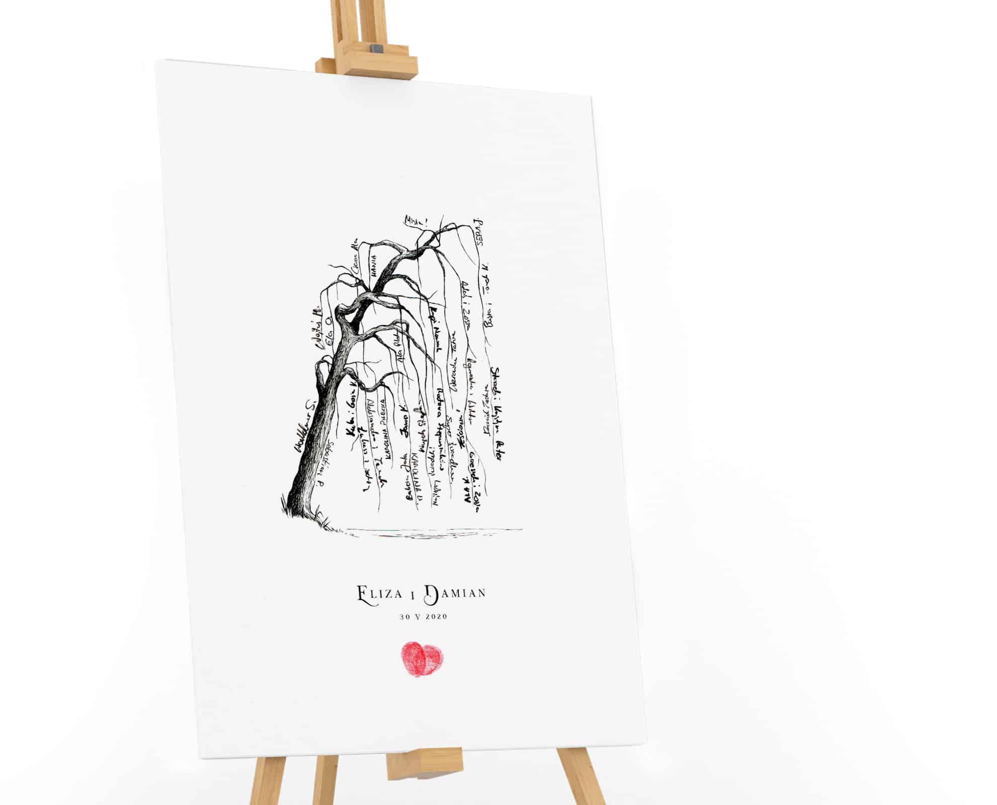 Drzewko na podpisy, księga gości