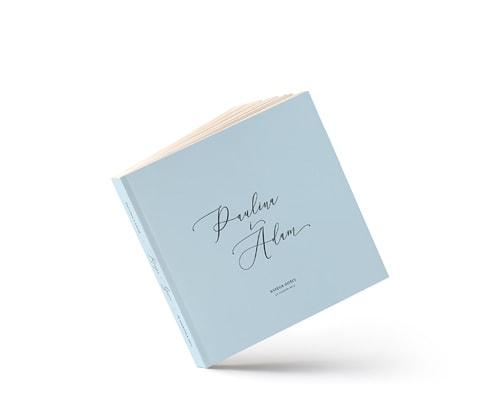 Klasyczna księga gości, jasno niebieska