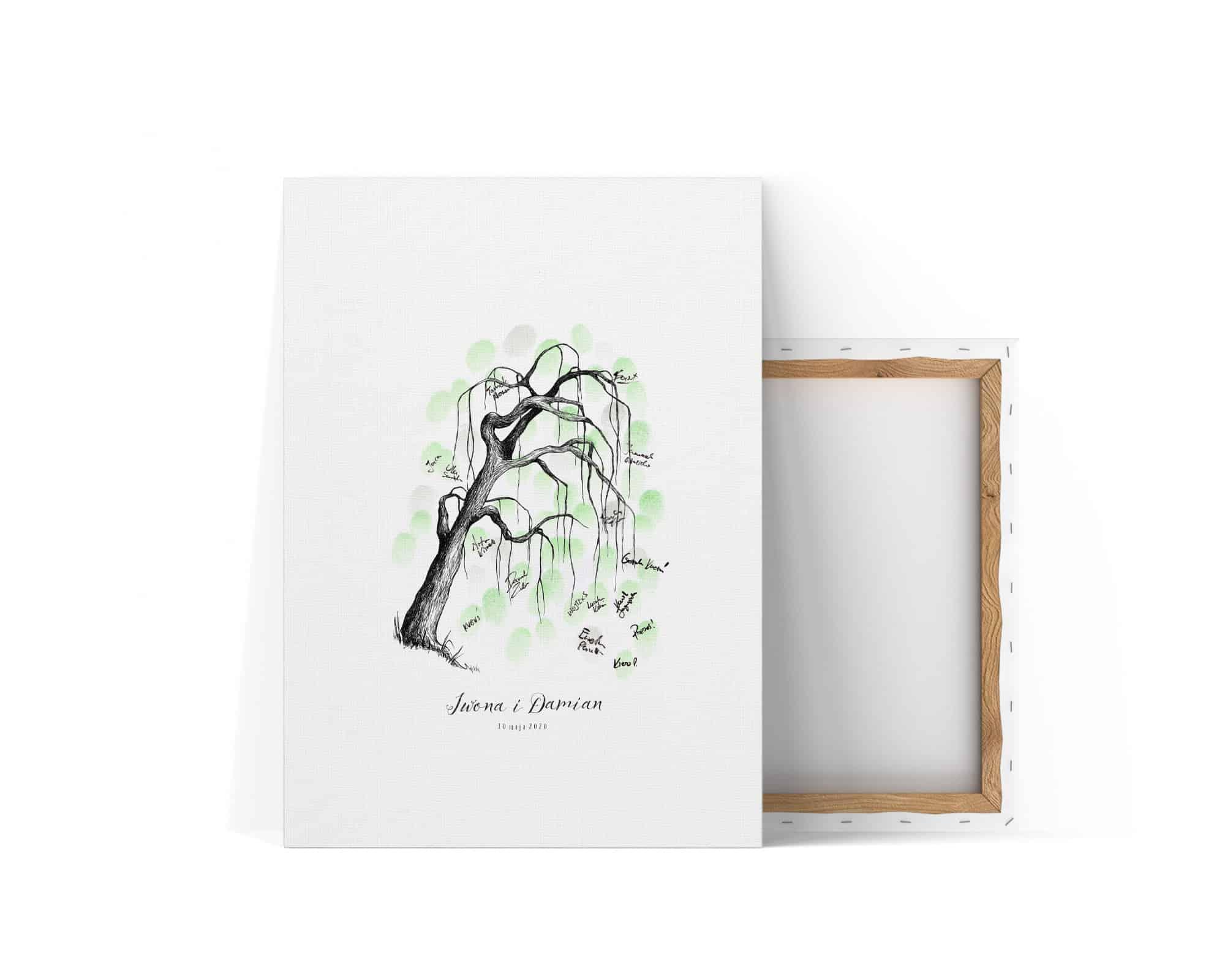 Księga gości z drzewkiem do pozostawiania odcisków palców