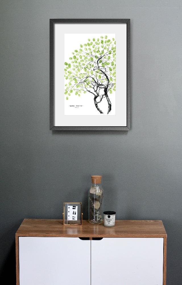Drzewko bonsai, księga gości weselnych
