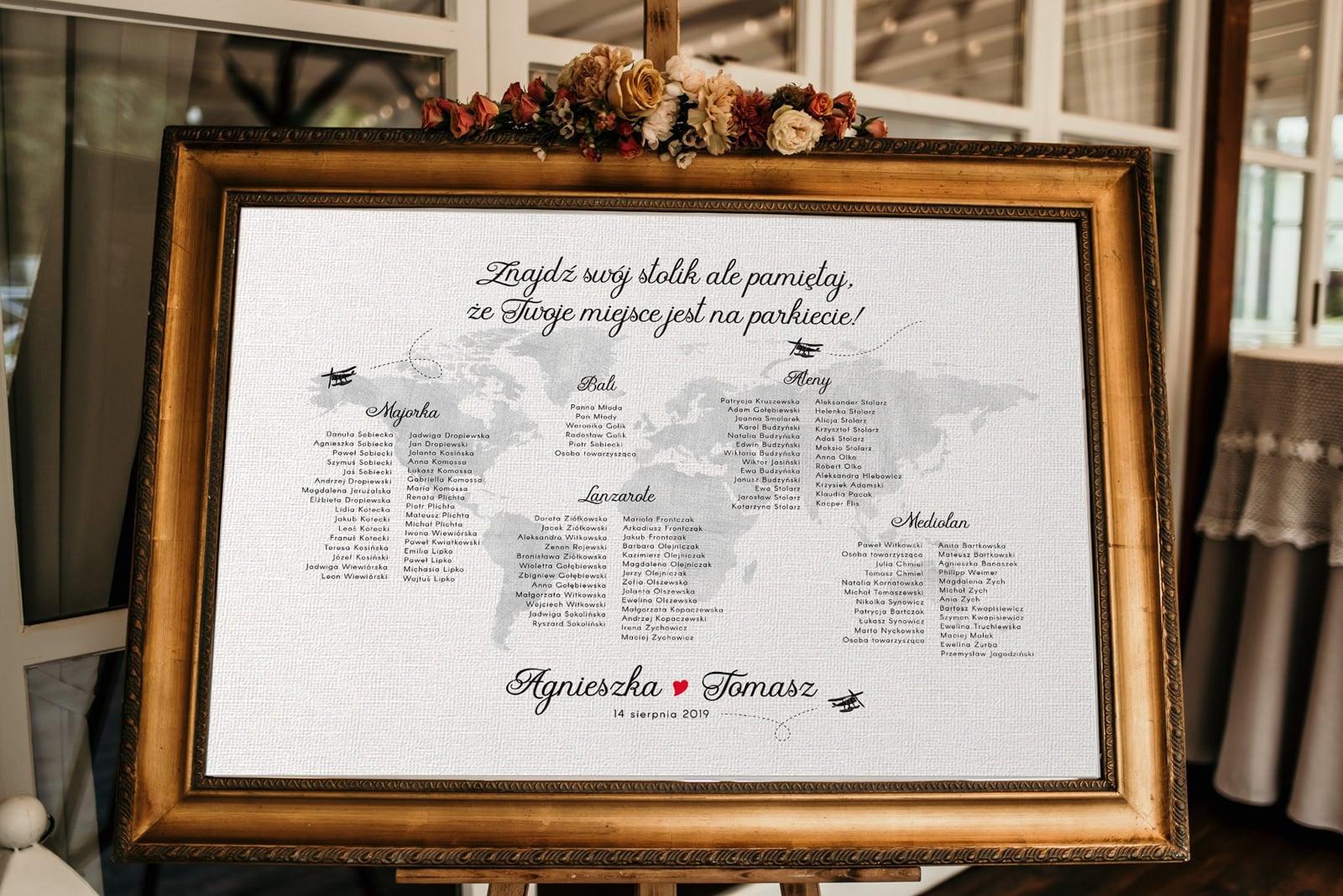Jak przygotować plan stołów na wesele