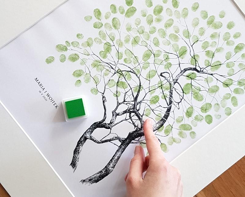 Księga gości drzewko na odciski