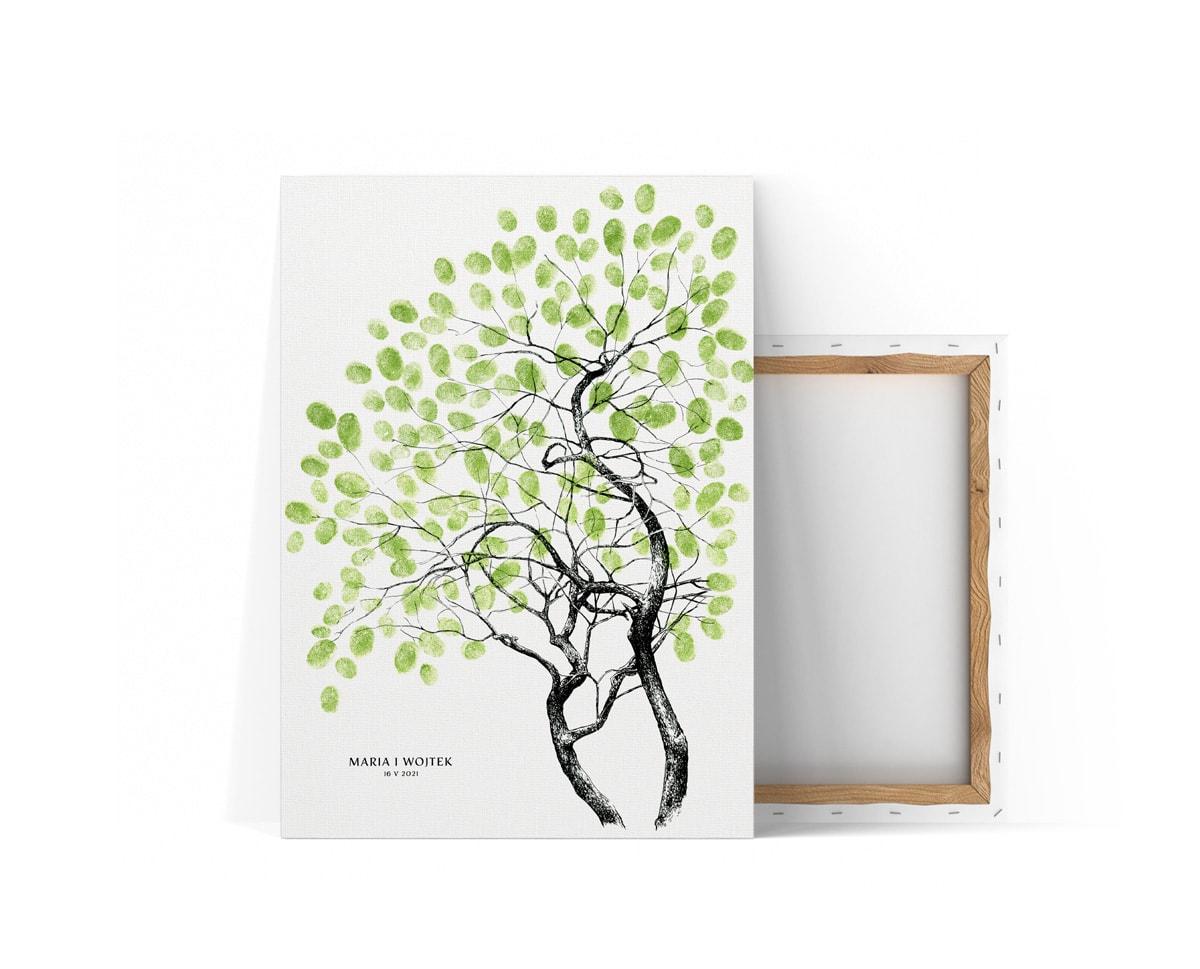 Księga gości z drzewkiem bonsai na odciski palców