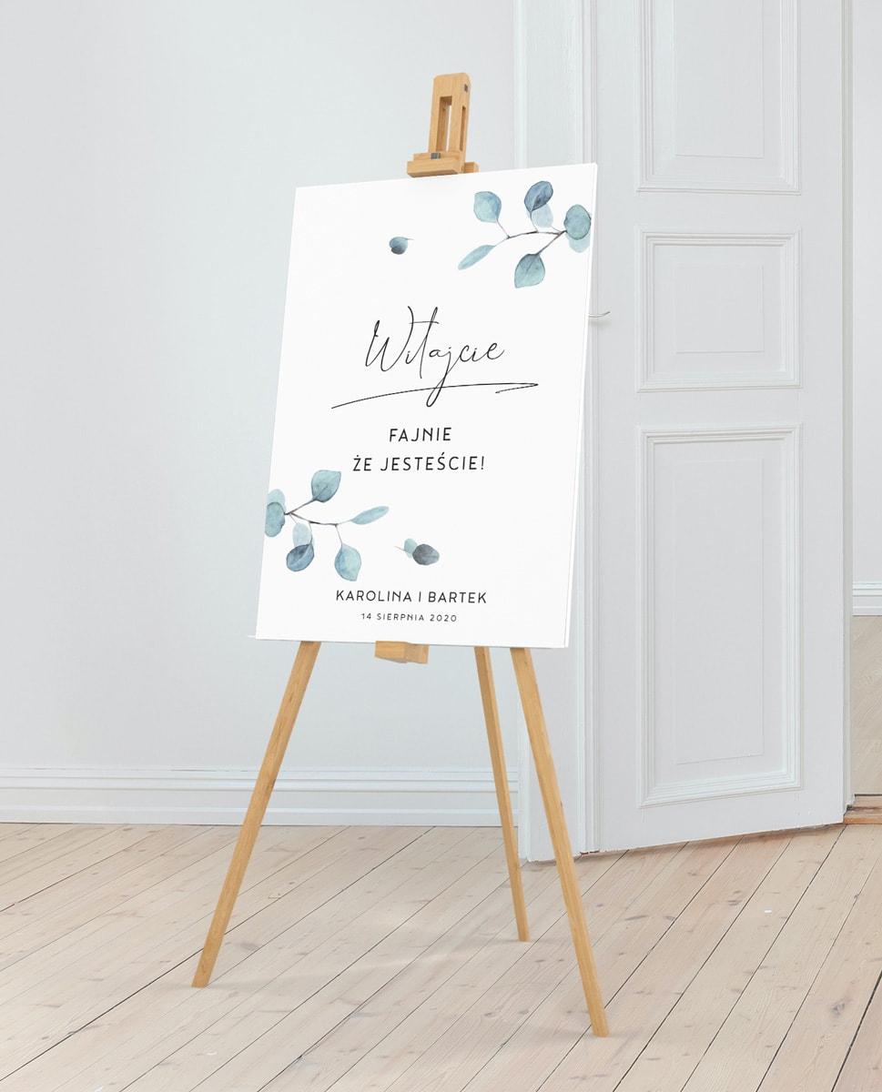 Witajcie, fajnie, że jesteście - tablica powitalna na wesele