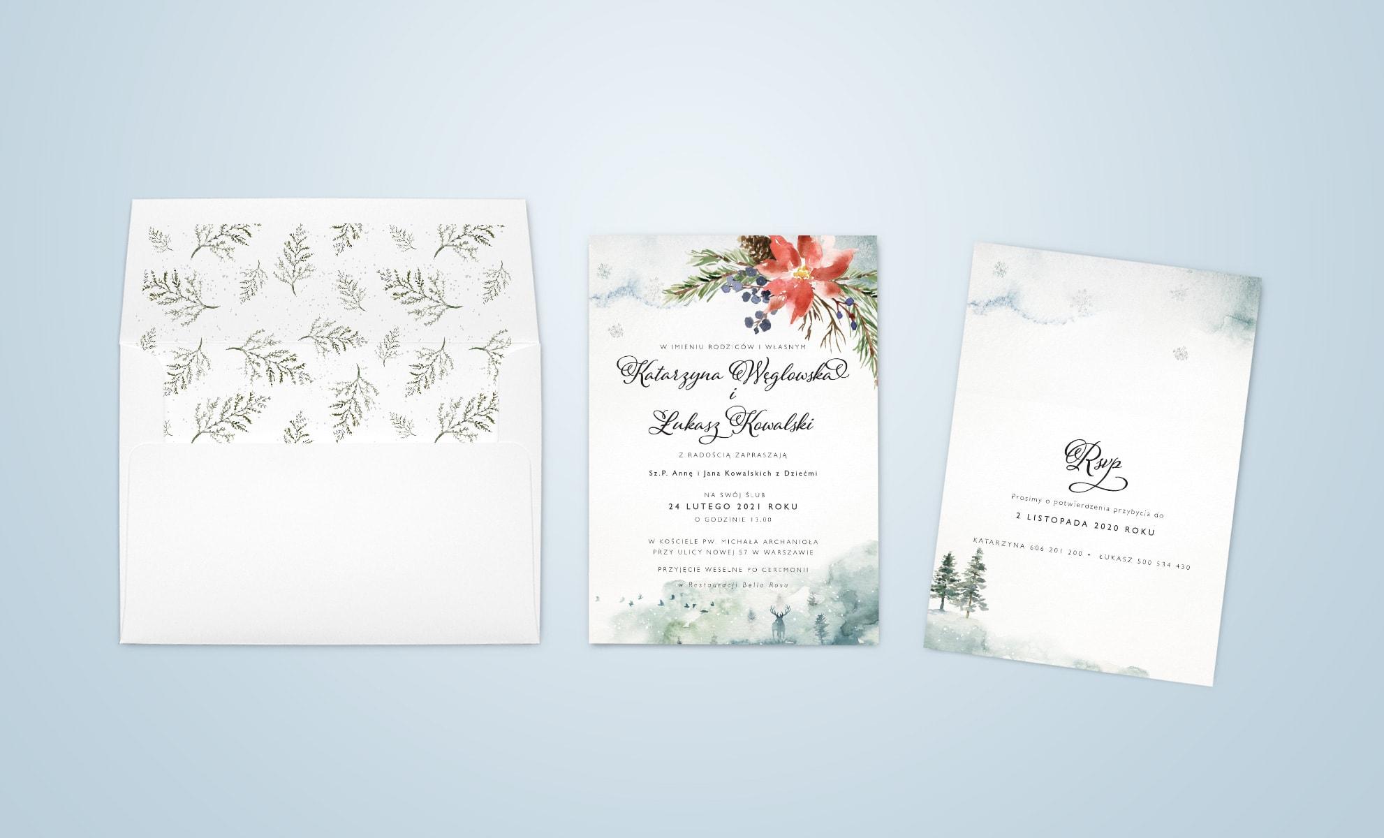 Zaproszenia na ślub w zimie