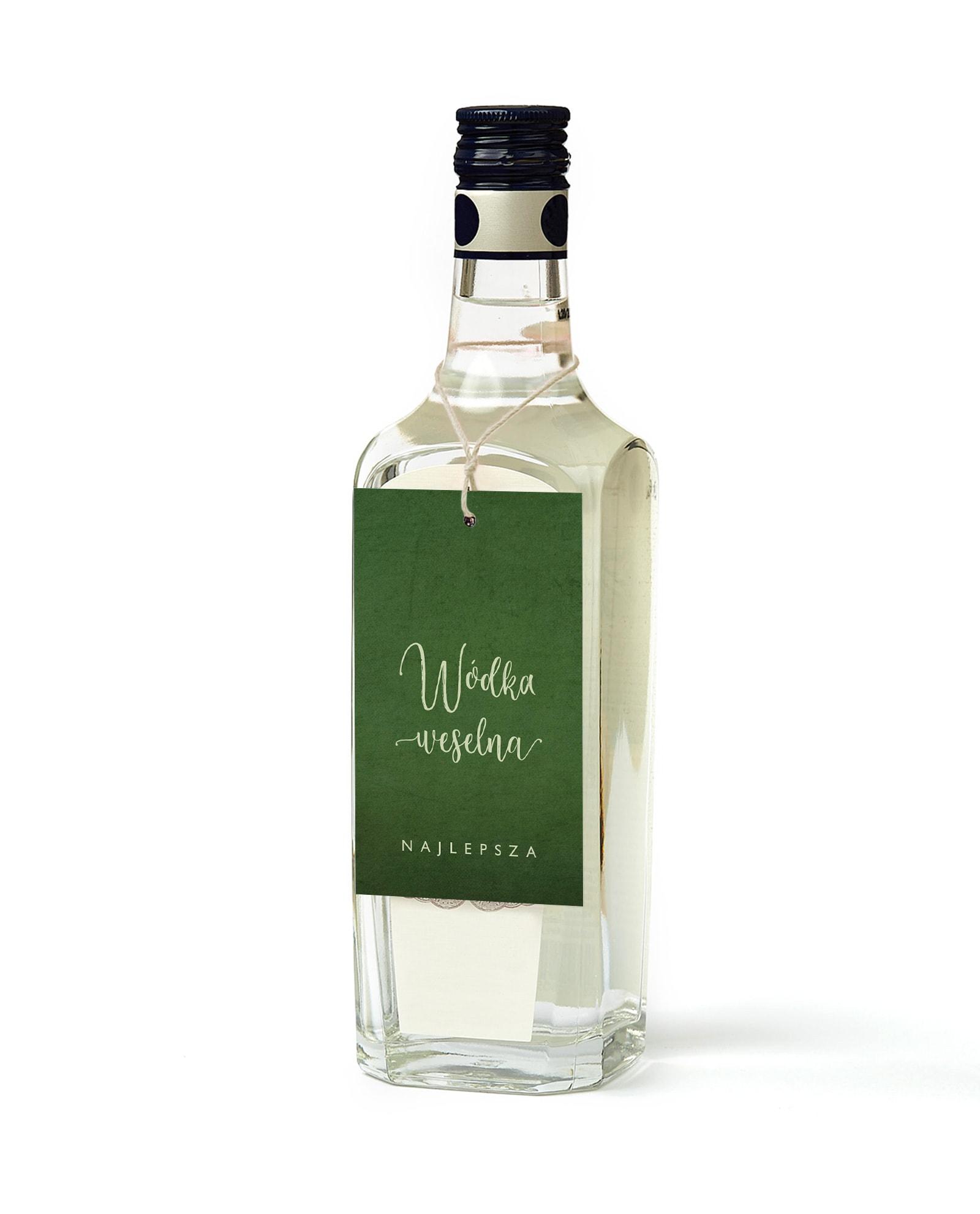Zawieszki na wódeczkę w kolorze butelkowej zieleni