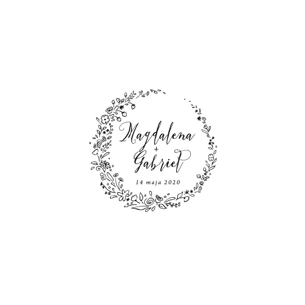 Ilistracja z wiankiem z polnych kwiatów