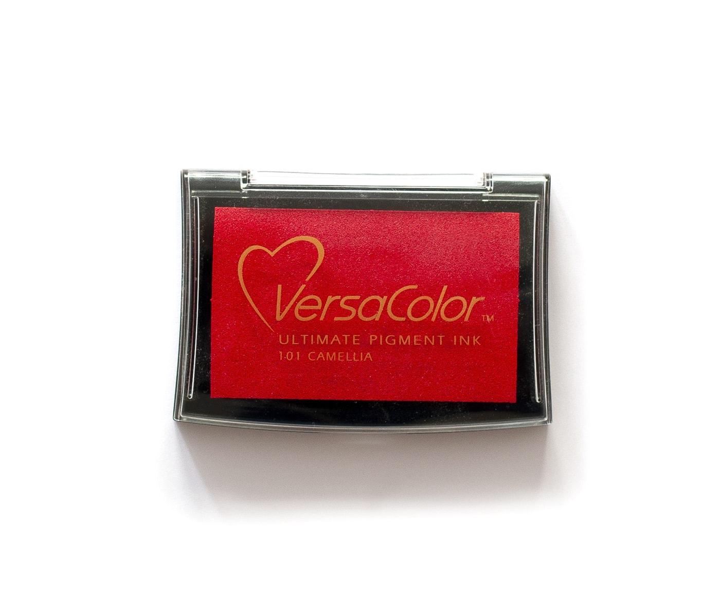 Czerwony tusz pigmentowy na bazie wody versa color camellia