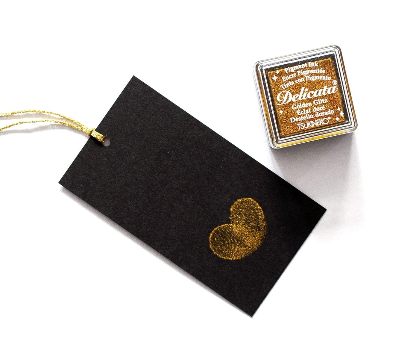 Złoty tusz do odcisków palców delicata golden glitz