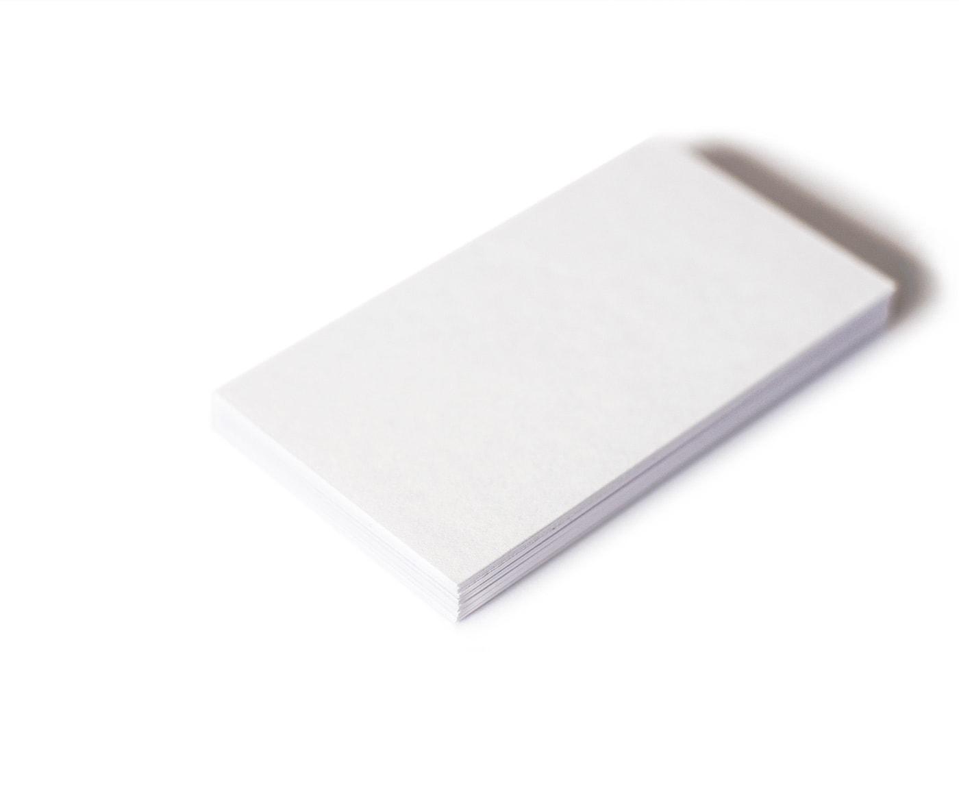papier na wizytówki biały, matowy