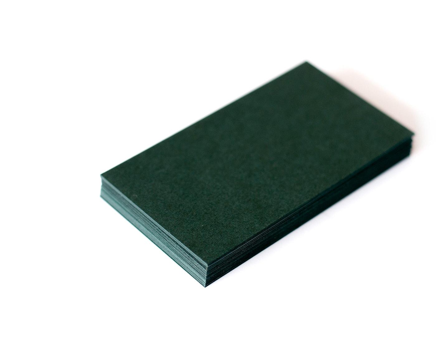 papier na wizytówki, butelkowa zieleń, 350g