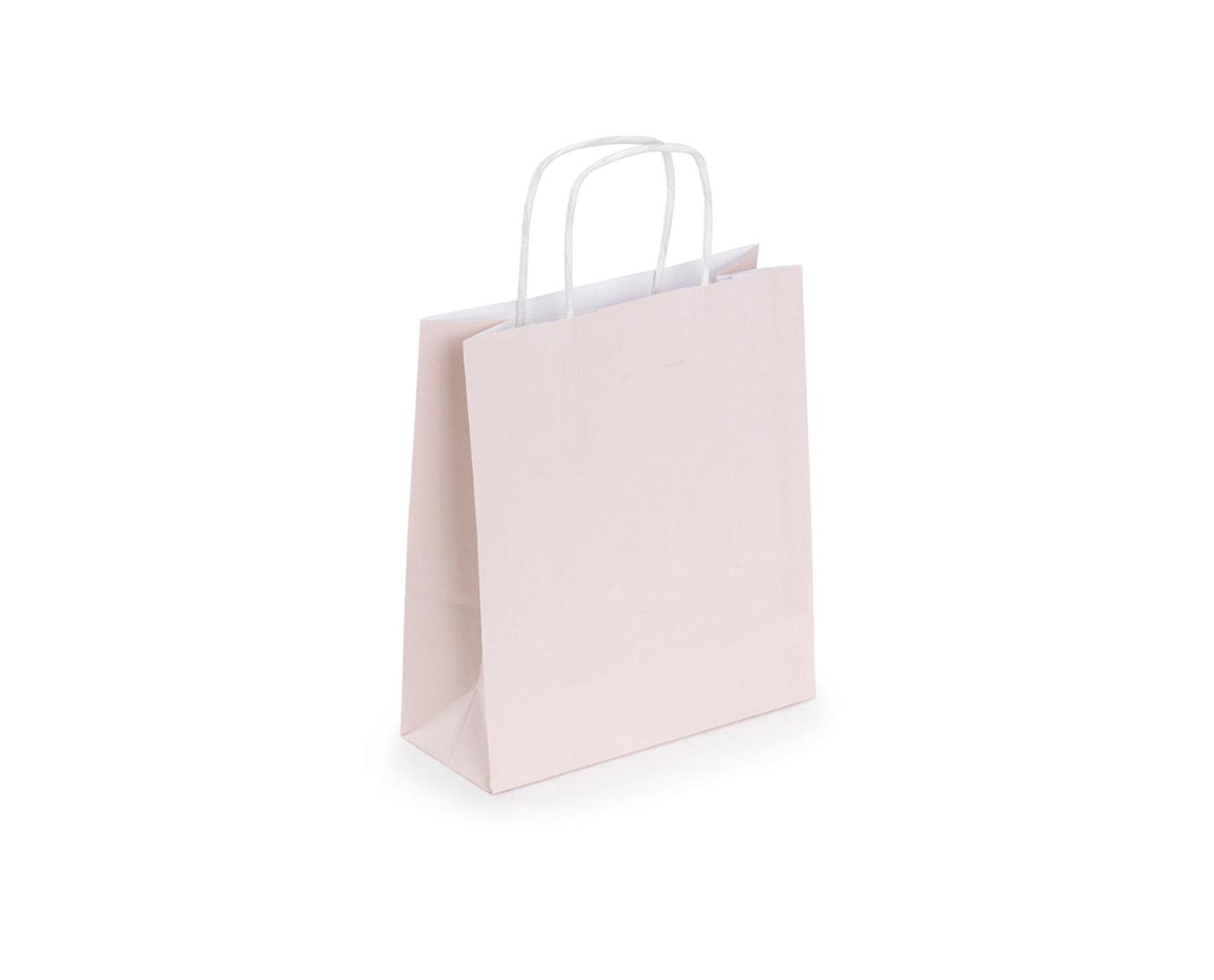 ozdobna torba papierowa do pakowania, kremowa