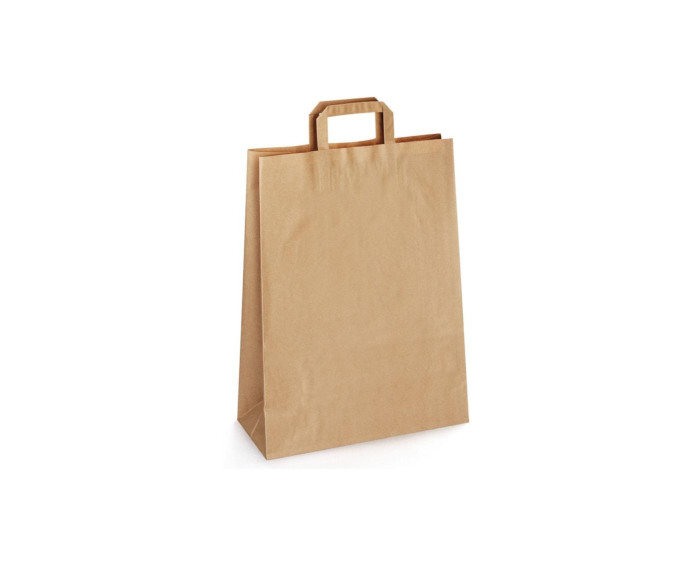 torba papierowa kraft z płaskim uchwytem