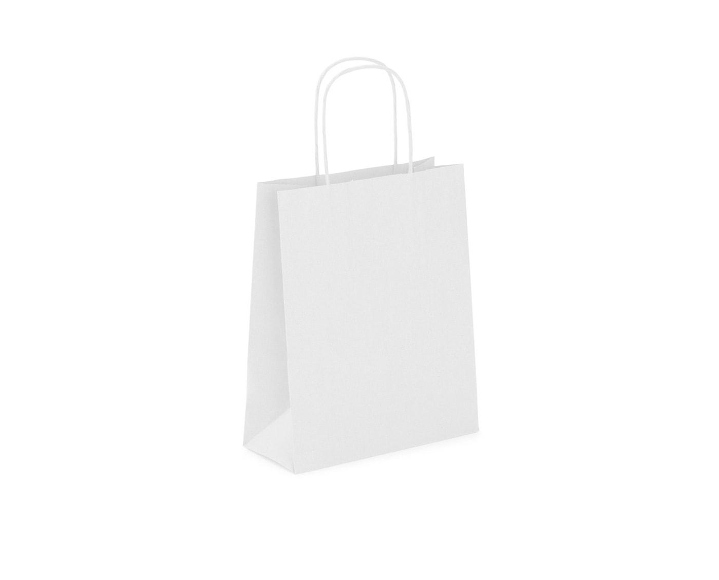 Biała torba papierowa z papieru kraft