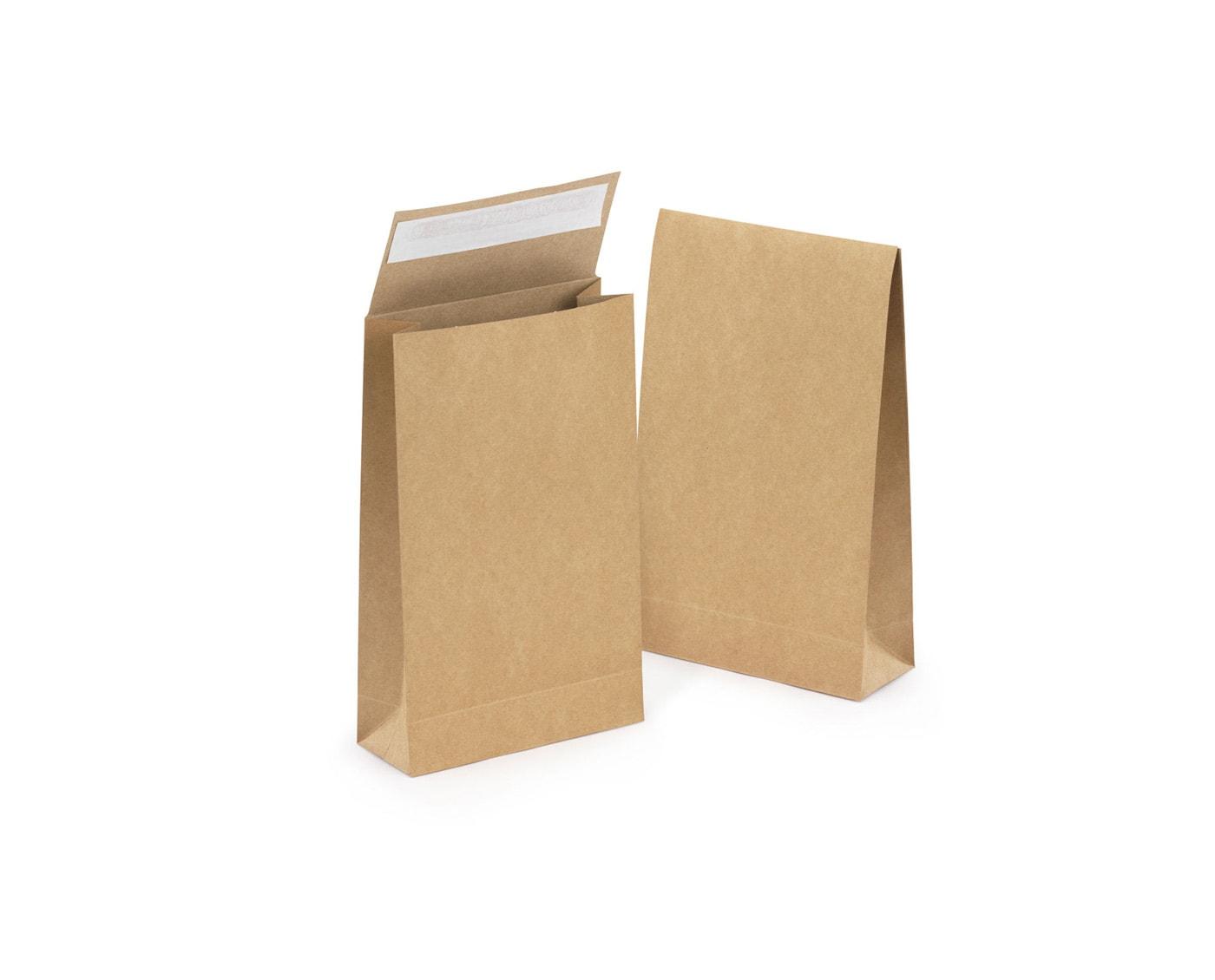 Torba papierowa płaska z samoprzylepnym zamknięciem