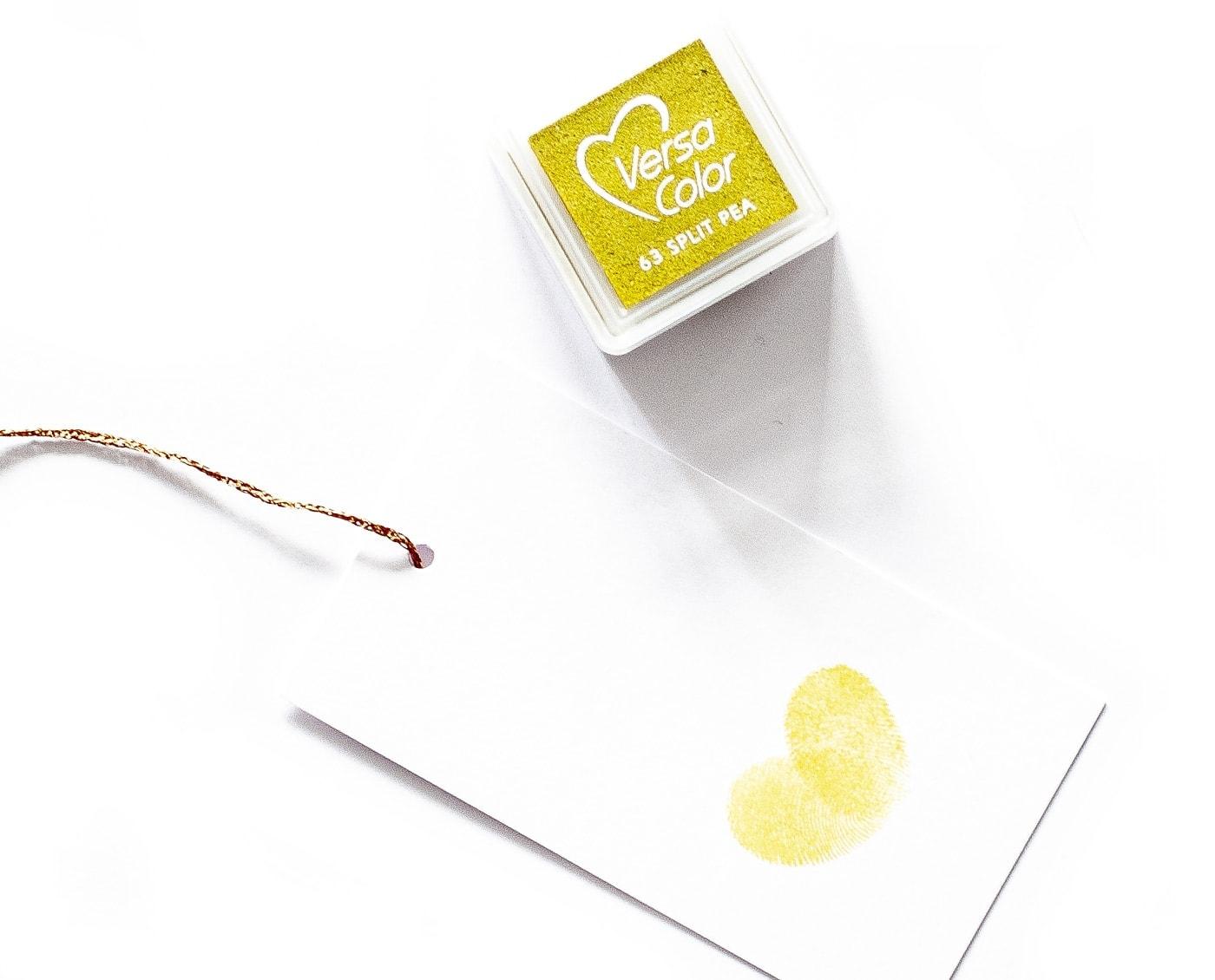 poduszka z tuszem w odcieniu żółtego split pea