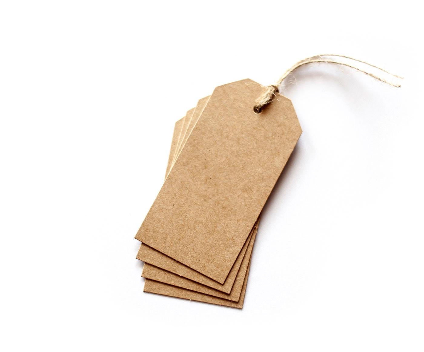 rustykalne ekologiczne zawieszki z brązowego papieru