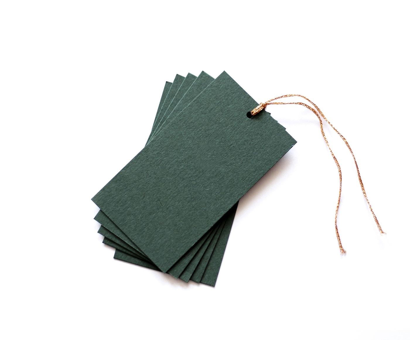 zielone zawieszki z miedzianym sznureczkiem